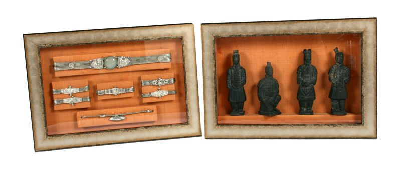 Egyptian jewellery and figures