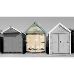 Steamer Point Beach Huts Monotone