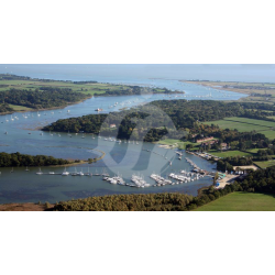 Bucklers Hard Aerial View