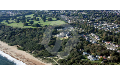 Highcliffe Castle, Aerial view showing the Golf Course